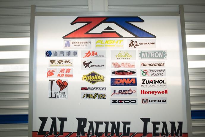 在大鵬灣的車隊,背後都有許多廠商的支持。