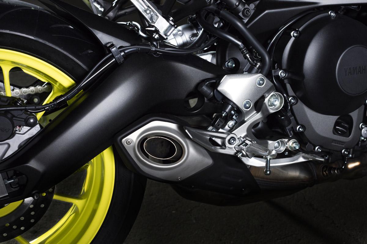 新的排氣管設計感覺更一體流線。