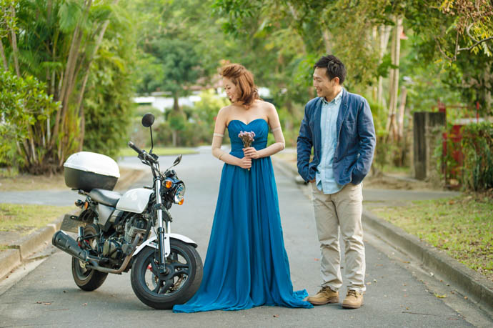 從沒騎過車的老婆,也因為MY150對摩托車有了興趣