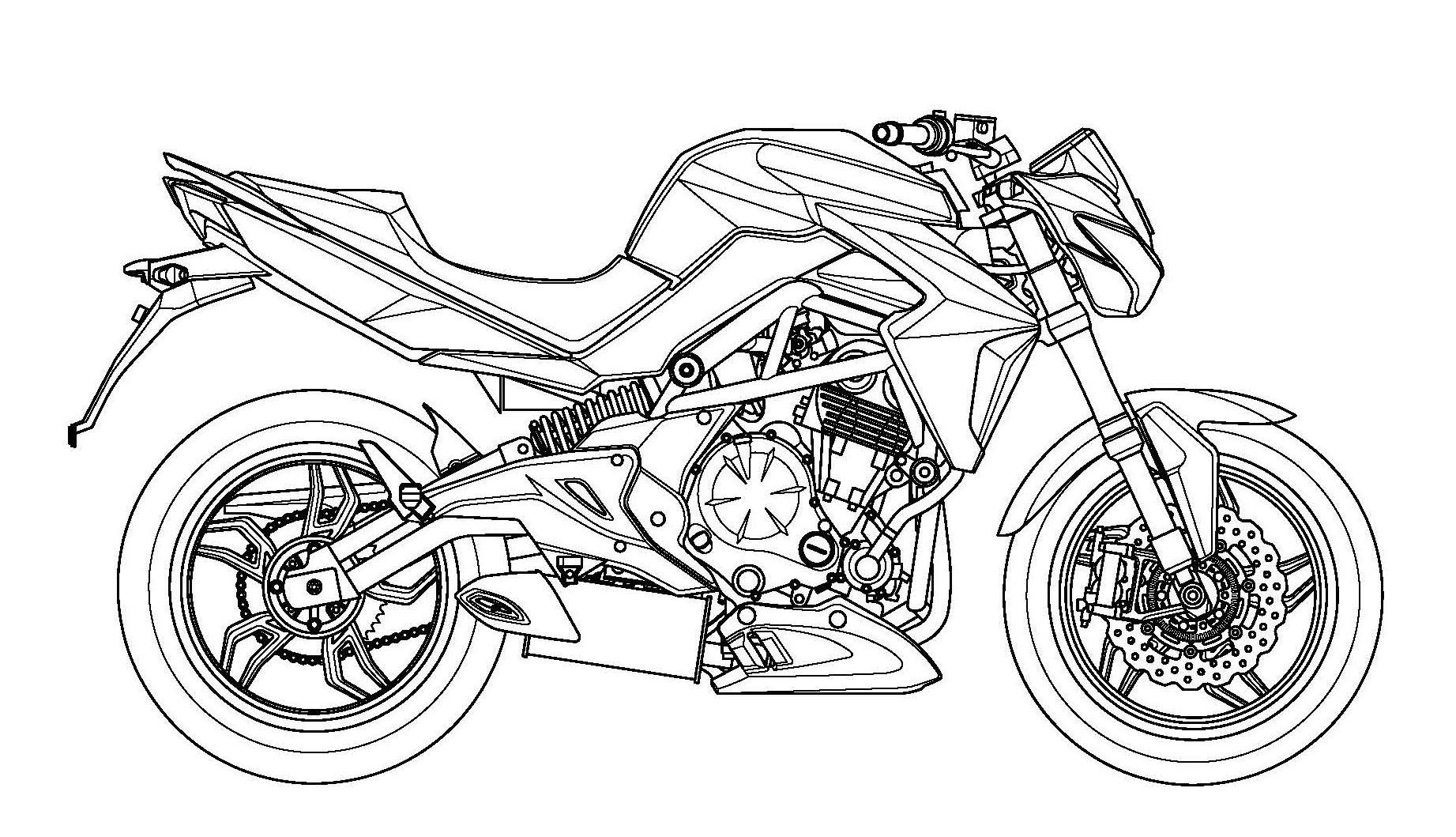 右視圖可以看出引擎、排氣管以及後搖臂都與ER6 相同