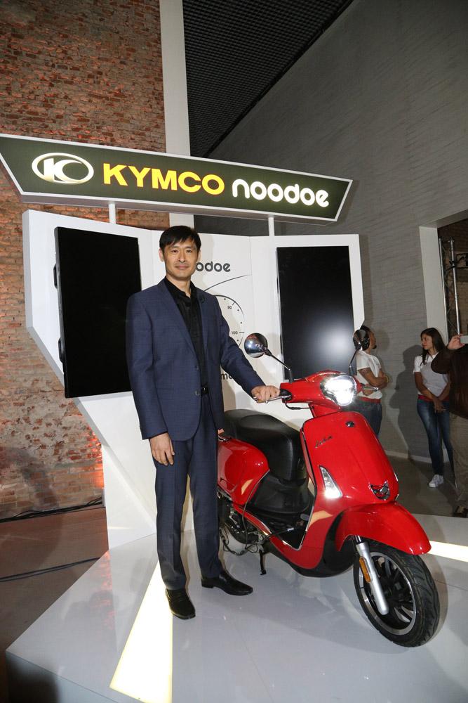 NOODOE發表現場,以同日早上發表的新Like 為DEMO車款。