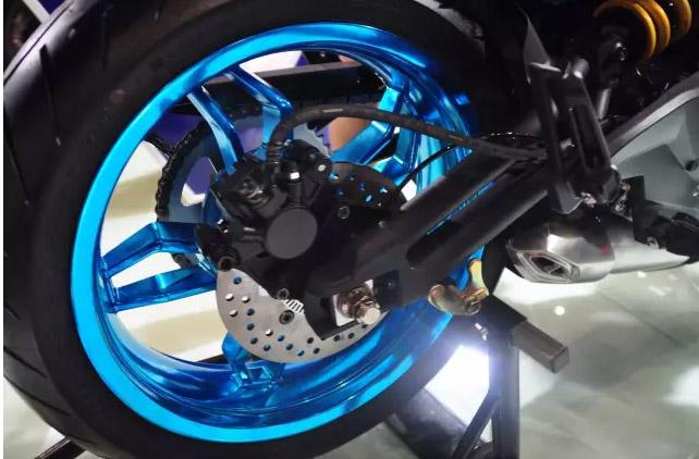 K Rider 使用同樣的鋼管後搖臂(光陽提供)。