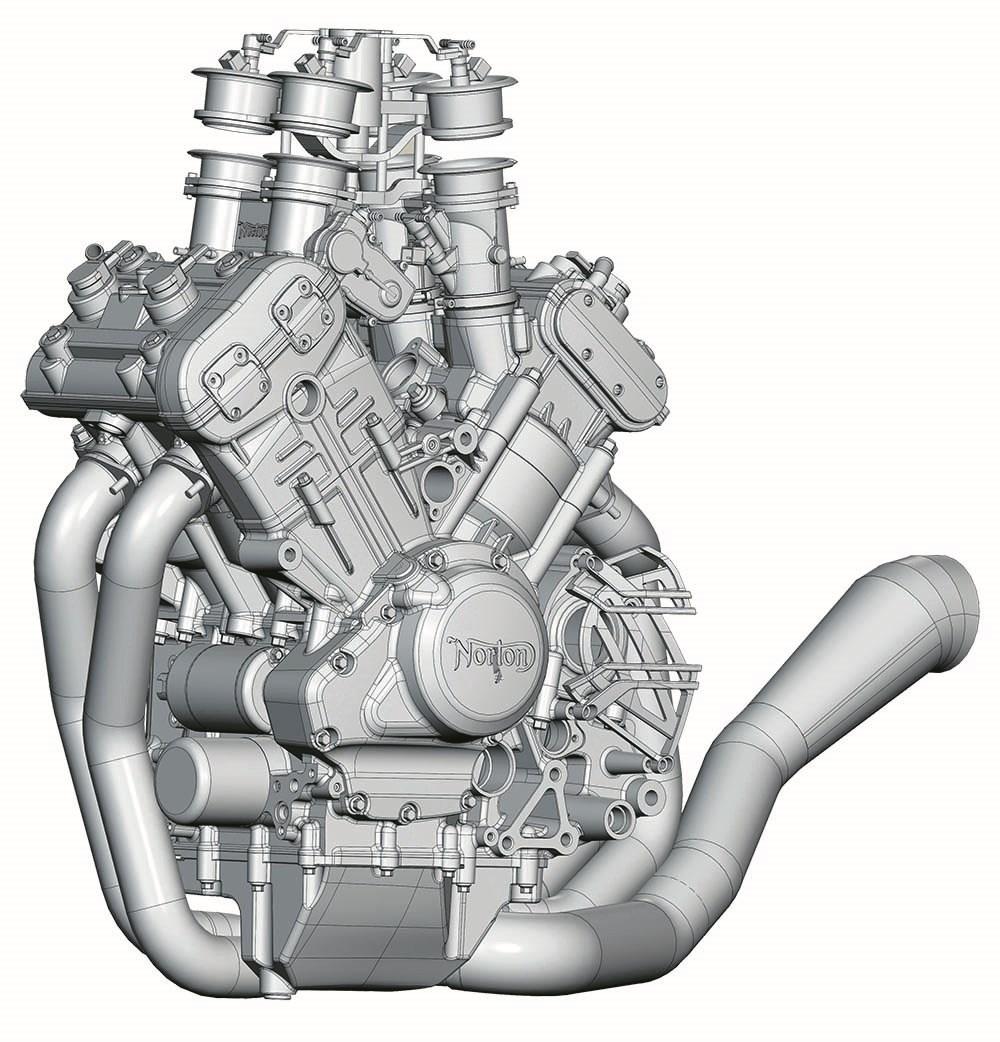 V4 引擎電腦圖,看來也用上可變進氣導管的設計